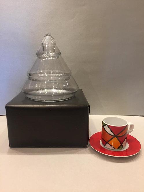 Glaspyramide nicht befüllt