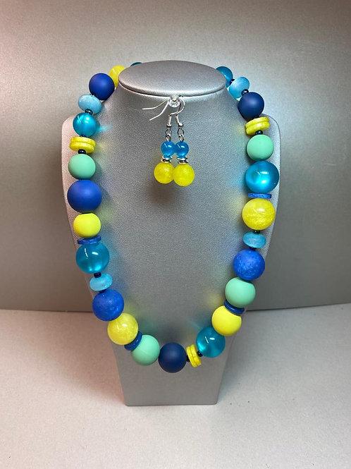 Halskette mit passendem Ohrschmuck / auch einzeln erhältlich