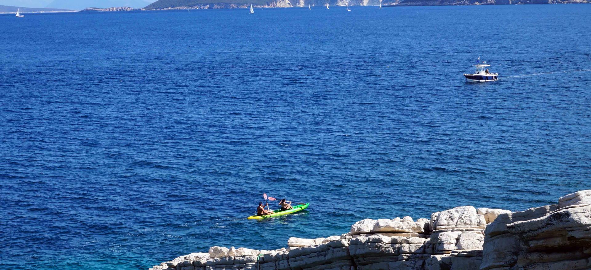 Sea kayaking in the Ionian Sea