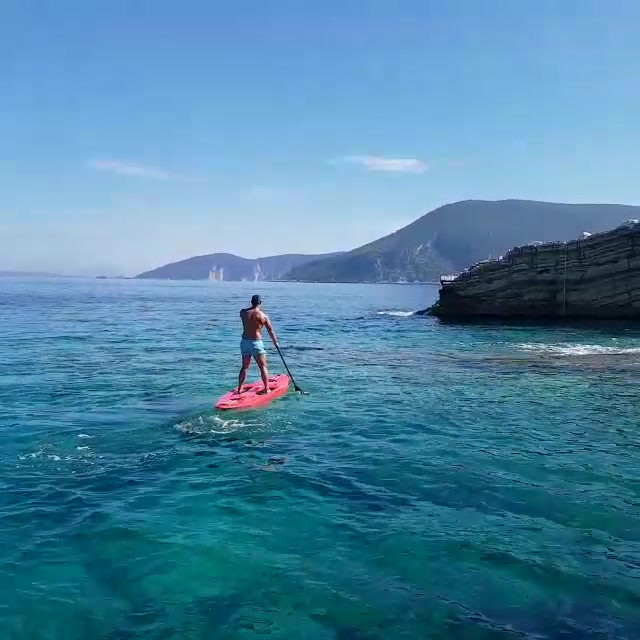 SUP Stand Up Paddleboarding in Greece on a HHH Health Retreat