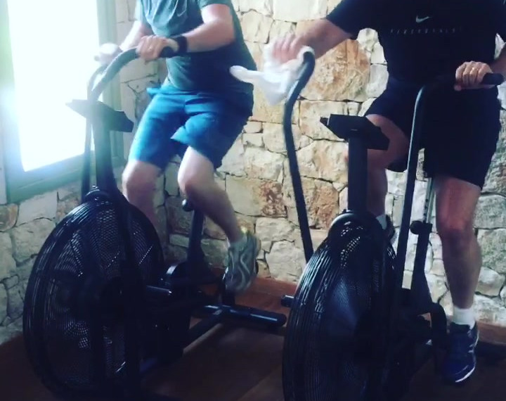 Assault Bike Training in Greece on a HHH Health Retreat