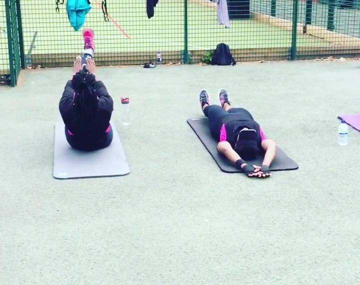 Henlu teaching group fitness in London