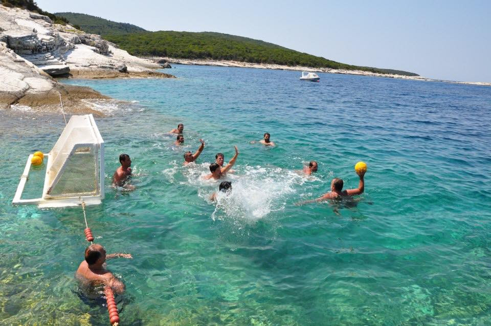 Water Polo in Greece on a HHH Health Retreat