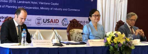 The co-chairs of the Trade and Private Sector Working Group Meeting in Vientiane yesterday.