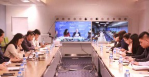 Large infrastructure projects accelerate growth of Laos' GDP: World Bank Economists, government and non-governmental officials attend a video conference at the World Bank Laos Office in Vientiane yesterday.