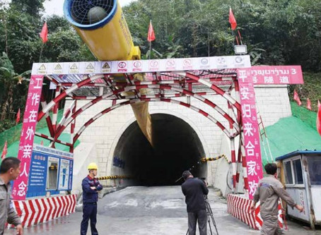Chinese firms mark completion of Laos-China railway's longest tunnel