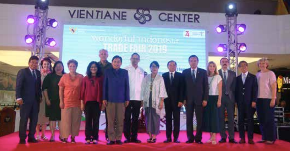 Representatives of the Indonesia embassy join VIP guests at the trade fair opening on Friday