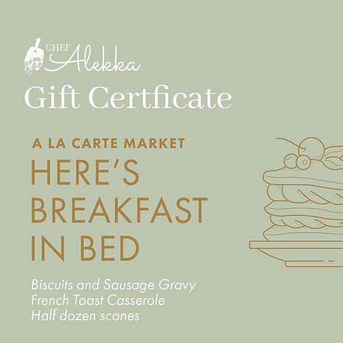 A La Carte Market Bundle: Here's Breakfast in Bed