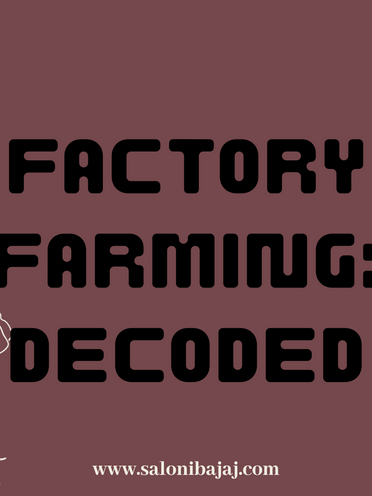 Factory Farming: Decoded