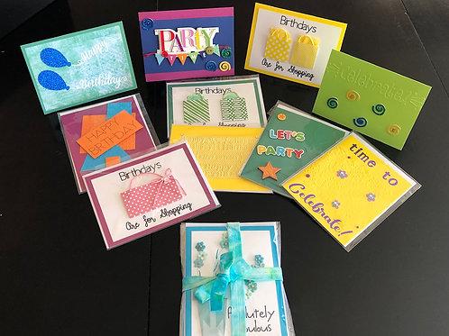 "Greeting Card  ""Happy Birthday""  4 pc card set"