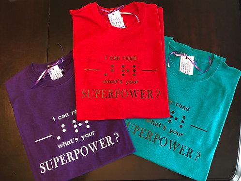 Crew neck t-shirt  'Superpower'