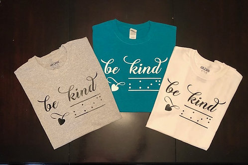 "Crew neck t shirt   ""be kind"""