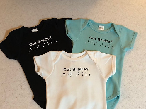 Baby Onesie  with Braille