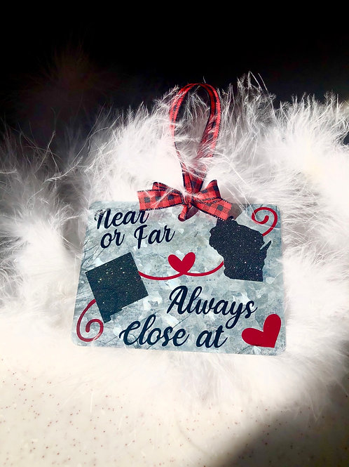 Personalized State to State ornament