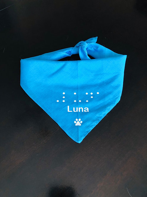 Personalize your Bandana with Braille- Print Name