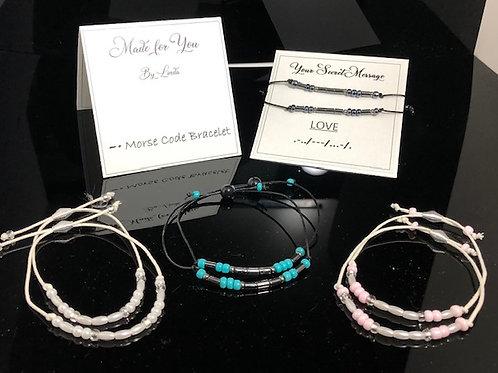 "Morse Code ""Secret Message"" bracelet"