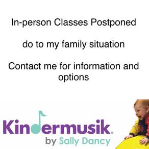 In-person Classes Postponed