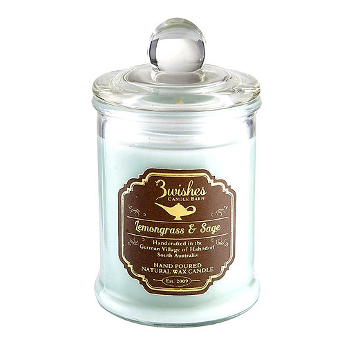 Lemongrass & Sage - Small 20 hour Soy wax candle
