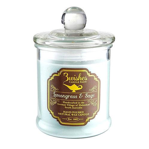 Lemongrass & Sage - Large 80 hour Soy wax candle