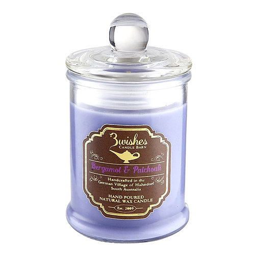 Bergamot & Patchouli - Small 20 hour Soy wax candle