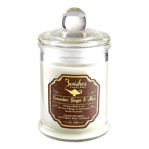 Cucumber, Ginger & Mint - Small 20 hour Soy wax candle
