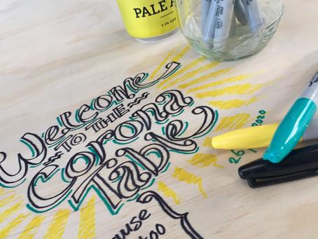 The Corona Doodle Table