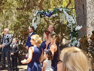Heart Shaped Arches with Silk Flowers