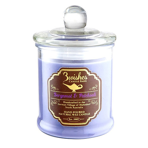 Bergamot & Patchouli - Large 80 hour Soy wax candle