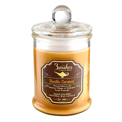Vanilla Caramel - Small 20 hour Soy wax candle