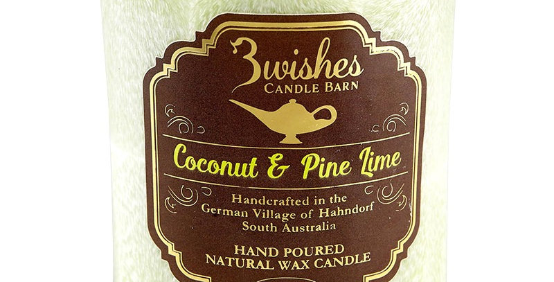 Coconut & Pine Lime -Small 60 hour Vegetable Wax Candle