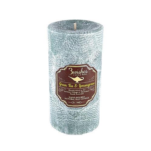Green Tea & Lemongrass - Large 100 hour Vegetable Wax Candle