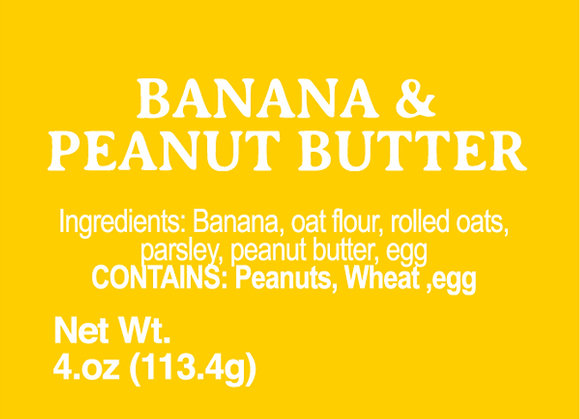 Banana and Peanut Butter - 4oz
