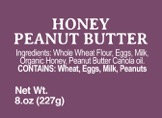 Honey Peanut Butter - 8oz
