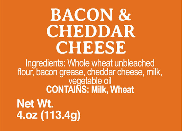 Bacon and Cheddar Cheese - 4oz