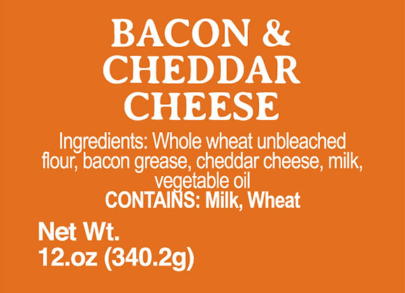 Bacon and Cheddar Cheese - 12oz