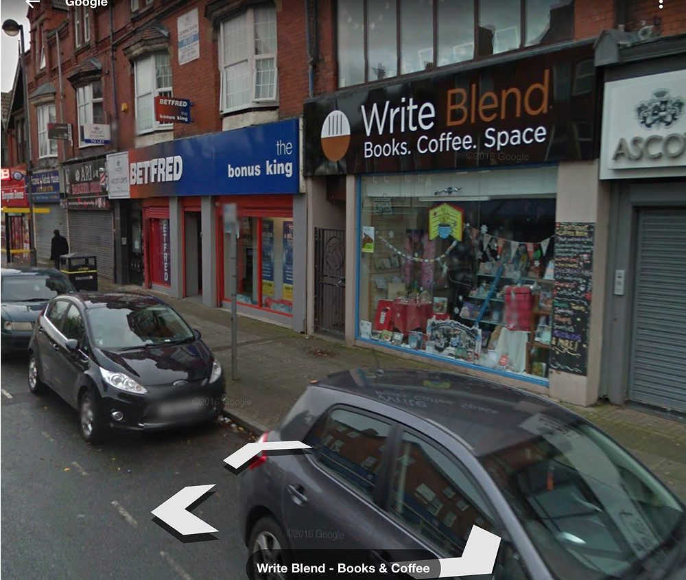 GoogleMap image of Bob's bookshop in Liverpool
