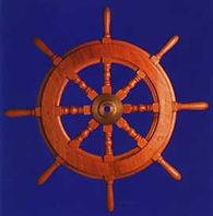 wooden rudder steering wheel