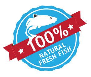 100% natural fresh fish