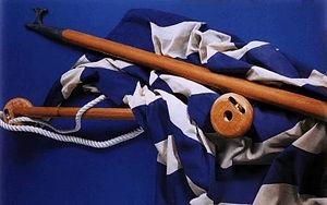 ξύλινα κοντάρια σημαία
