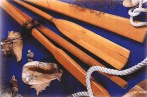 oars wooden kayak
