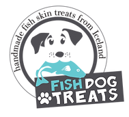 Fish dog treats logo