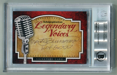 Legendary Voices Card - Marty Brennaman