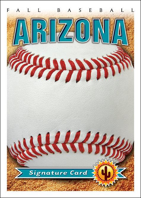 Arizona Fall Baseball Card