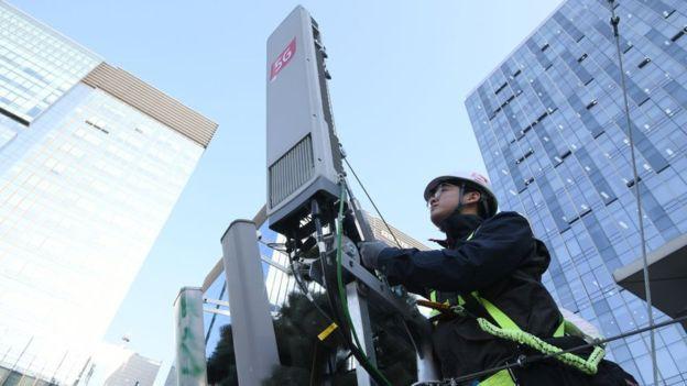 NA Coreia o sinal 5G já está em funcionamento.