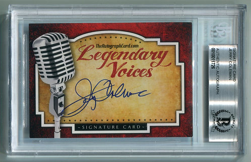 Legendary Voices Card - Jerry Coleman