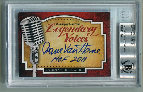 Legendary Voices Card - Dave Van Horne