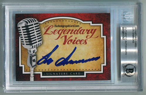 Legendary Voices Card - Lon Simmons