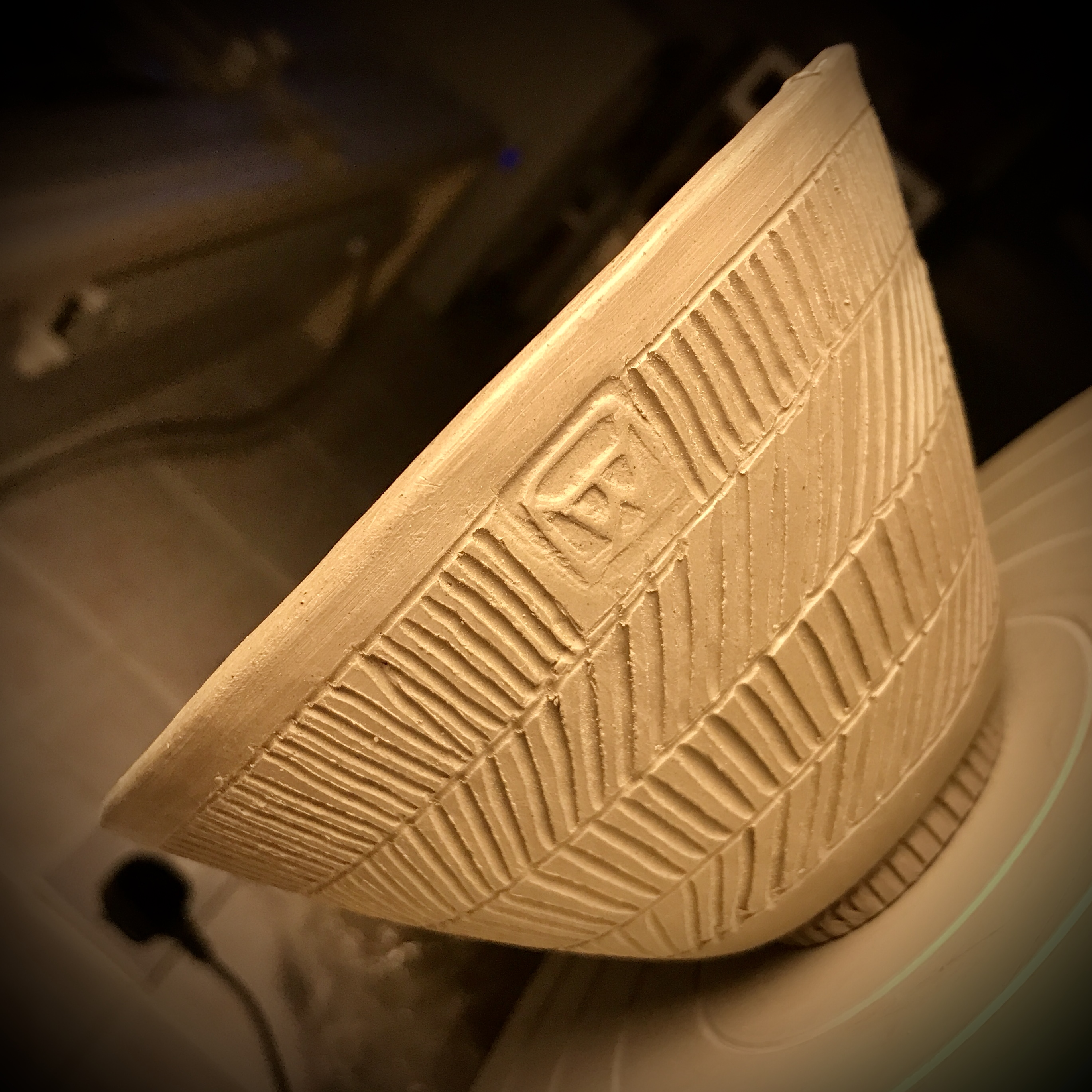 Carved bowl design