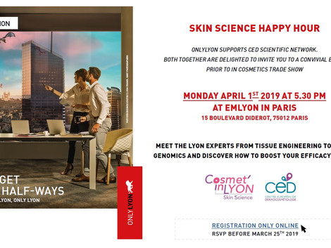 DERMATEC sponsorise le Skin Science Happy Hour 2019