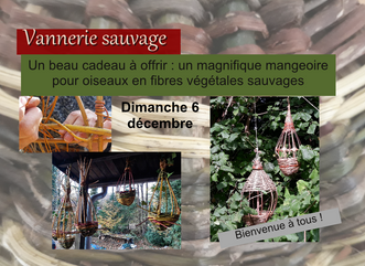 Le 6 décembre: Mangeoire pour oiseaux en fibres sauvages, un beau cadeau pour soi et la nature!